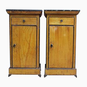 Antique French Night Stands, Set of 2