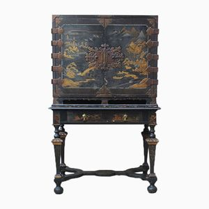 18th Century Lacquered Cabinet on Stand