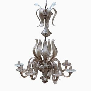 8-Arm Blown Murano Glass Chandelier