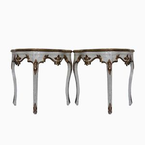 Antique Spanish Console Tables, 1780s, Set of 2