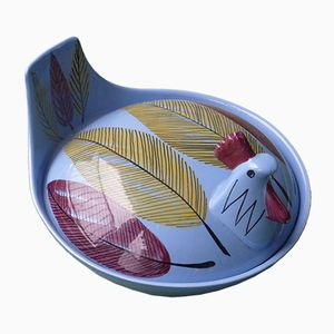 Covered Chicken Bowl by Inger Waage for Stavangerlint, 1960s