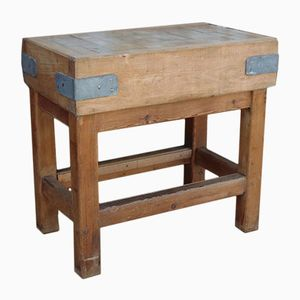 English Vintage Maple Butcher's Block