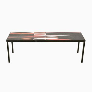 Coffee Table with Ceramic Tiles by Roger Capron, 1950s