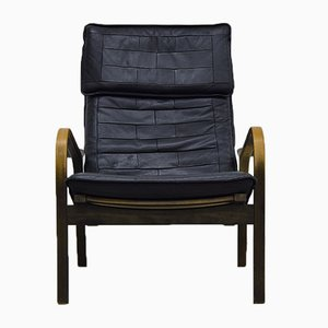 Oak and Leather Lounge Chair by Yngve Ekström for Swedese