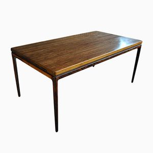 Mid-Century Rosewood Dining Table by Johannes Andersen for Christian Linneberg