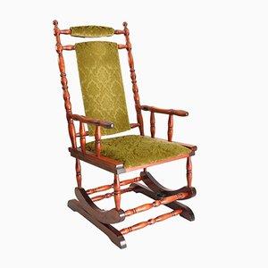 Chaise à Bascule Scandinave en Bois, 1950s