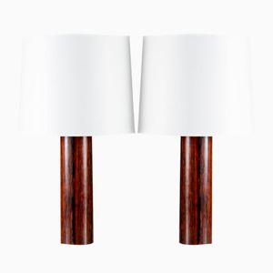 Tischlampen aus Palisander von Uno und Osten Kristiansson für Luxus, 1960er, 2er Set
