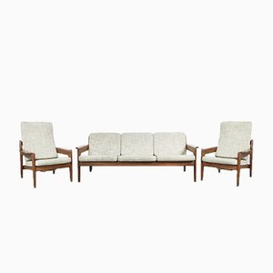 Danish Teak Living Room Set by Arne Wahl Iversen for Komfort, 1950s