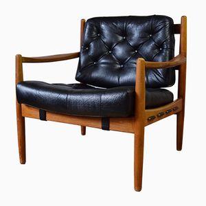 Danish Leather Lounge Chair, 1960s