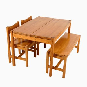 Finnish Dining Set by Ilmari Tapiovaara for Laukaan Pu, 1963