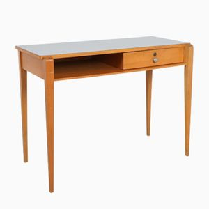 Vintage Laminated Top Beech Desk, 1960s