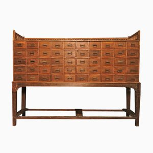 British 50-Drawer Teak Buffet, 1950s