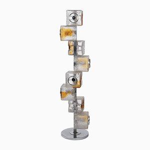 Italienische Murano Glas Stehlampe von Toni Zuccheri