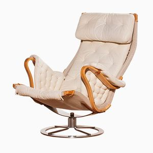 Pernilla Lounge Chair by Bruno Mathsson for Dux, 1960s
