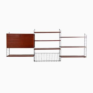 Mid-Century Modern Wall Unit Shelf by Nisse Strinning for String, 1950s