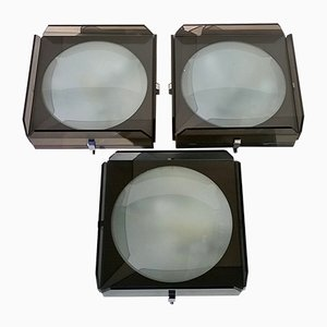 Glass Wall Lights from Veca, 1960s, Set of 3