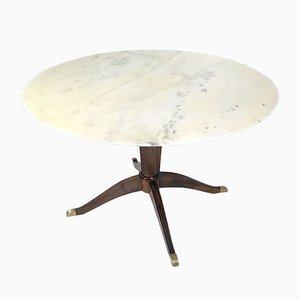 Walnut and Carrara Marble Dining Table by Paolo Buffa, 1950s