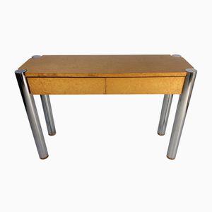 Konsolentisch aus Wurzel-Ahornholz & Chrom, 1969