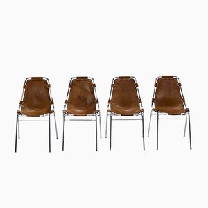 Chaises de Salon Les Arcs par Charlotte Perriand, Set de 4