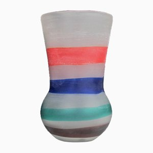Striped Vase by Fulvio Bianconi for Cenedese, 1950s
