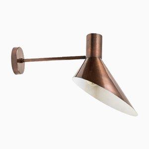 Wandlampe mit Lampenschirm aus Kupfer, 1960er