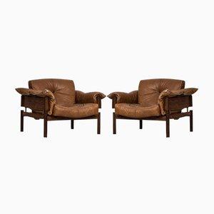 Easy Chairs par Percival Lafer, 1970s, Set de 2