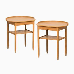 Vintage Bedside Tables by Sven Engström & Gunnar Myrstrand for Bodafors, 1963, Set of 2