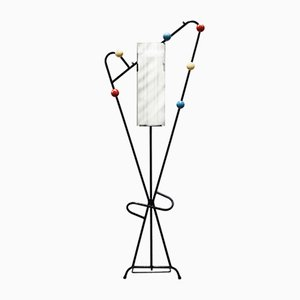 Mid-Century French Multi-Colored Coatrack, 1950s