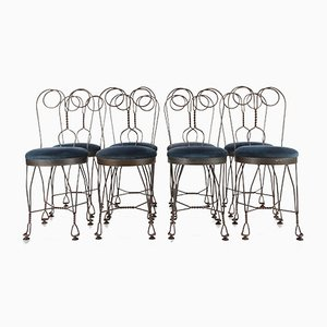 Fer Forgé Butterfly Dining Chairs, 1960s, Set of 8