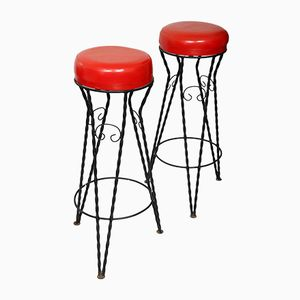 Vintage Bar Stools, 1960s, Set of 2
