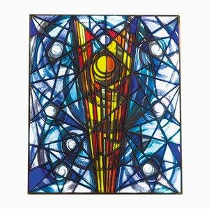Beleuchtetes Glaspaneel von Luigi Vianello für Fontana Arte, 1966