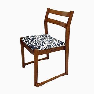 Vintage Patterned Teak Side Chair