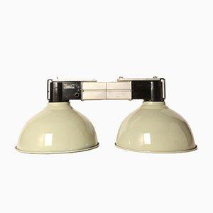 Graue Vintage Lampe mit Zwei Leuchten von Philips