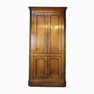 Antique Golden Oak Corner Cupboard