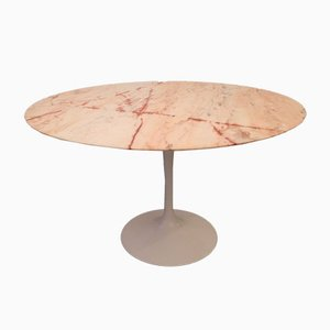 Pink Marble Tulip Dining Table by Eero Saarinen for Knoll, 1970s
