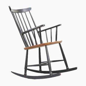Fannett Beech Rocking Chair by Ilmarii Tapiovaara, 1960s