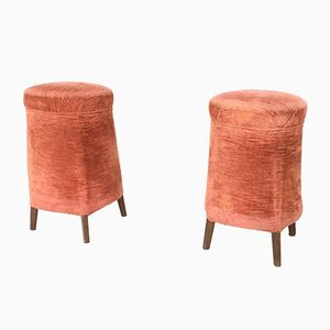 Italian Poufs, 1950s, Set of 2