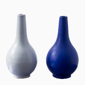 Teardrop Vases by Vicke Lindstrand for Upsala Ekeby, 1940s, Set of 2