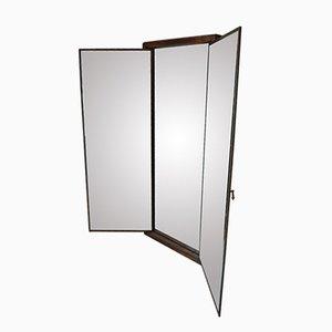 Grand miroir fen tre industriel en m tal et verre 1930s for Grand miroir triptyque