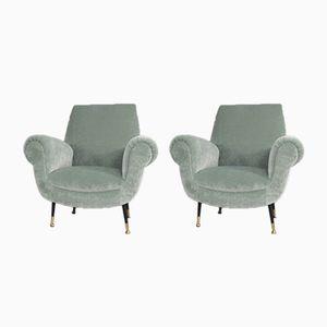 Club Lounge Chairs by Gigi Radice for Minotti, Set of 2