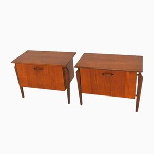 Mid-Century Dutch Teak DU-03 Night Stands form WéBé, 1950s, Set of 2