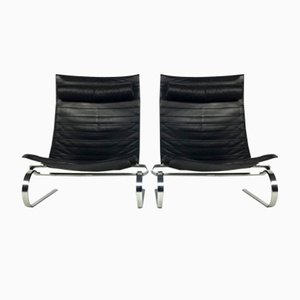 PK20 Lounge Chairs by Poul Kjærholm for Fritz Hansen, 1950s, Set of 2