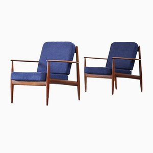Vintage Danish Teak Armchairs by Grete Jalk for France & Søn, Set of 2
