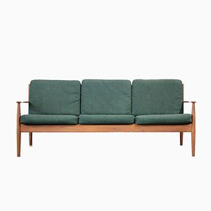 Green Teak Sofa by Grete Jalk for France & Søn
