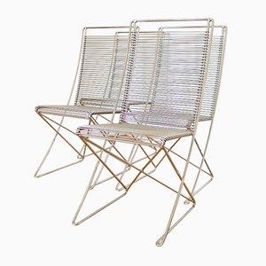 Chaises en Métal Vintage par Till Behrens pour Meyer Metallmöbel, Set de 4