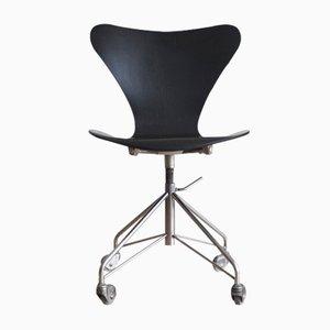 Chaise de Bureau 3117 par Arne Jacobsen pour Fritz Hansen, 1967