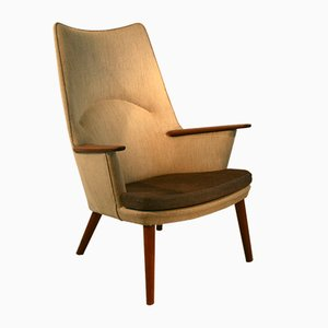 Mid-Century Danish Mama Bear Armchair by Hans Wegner for Johannes Hansen