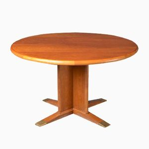 Round Extendable Dining Table by Frits Henningsen, 1940s