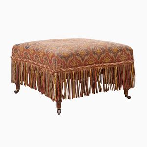 Antique Fringed Ottoman, 1860