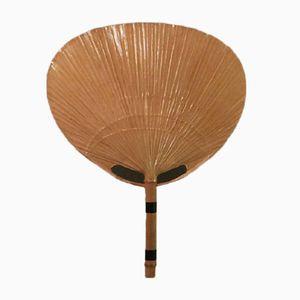 Uchiwa Bamboo Fan Sconce by Ingo Maurer, 1970s